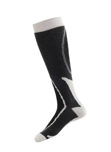 Panthzer  Ski & Snowboard Socks Siyah/Beyaz Gri